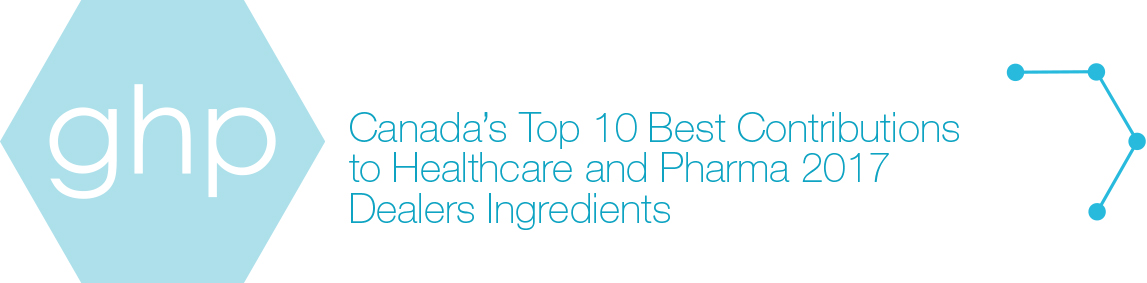Winner of Canada's top 10 best contributions to healthcare and pharma 2017