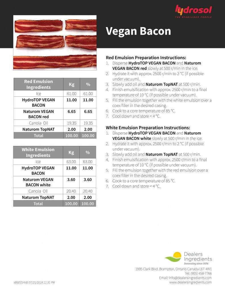 Hydrosol Vegan Bacon Recipe